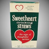 Box of Vintage Paper Straws - Large Box of Thin Sweetheart Straws