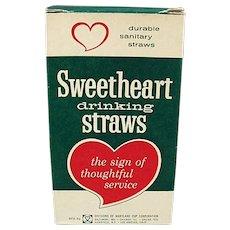Box of Vintage Paper Straws - Large Box of Thin Sweetheart Straws