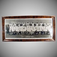 Framed 1924 School Photograph - Horrace Mann's Graduating Class - Kansas City
