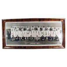 Framed 1924 School Photograph - Horrace Mann's Graduating Class - Kansas City