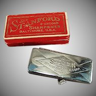 Vintage Stanford 5 Second Razor Blade Sharpener with Original Box