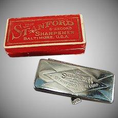 Vintage Stanford 5 Second Razor Blade Sharpener with Original Box