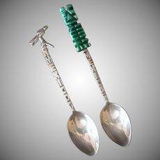 Vintage Silver Demitasse Spoons – 2 Mexico Souvenir Spoons 825 & 925