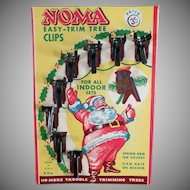 Vintage Christmas Tree Light Clips with Santa - Original Noma Packaging