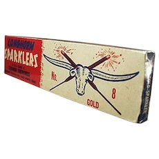 Vintage Longhorn Fireworks 4th of July Sparklers Box - Fort Worth, Texas