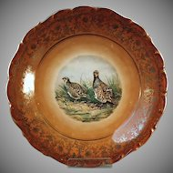 Vintage Bavarian Charger - Schumann, Germany Quail Bird Plate