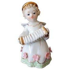 Vintage Lefton Porcelain Angel with Accordion