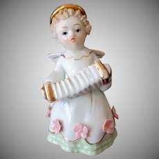 Vintage Lefton Porcelain Angel with Accordion