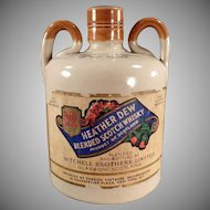 Vintage Govancroft Stoneware Jug - Heather Dew Whiskey with Paper Label