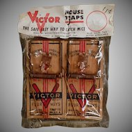 Vintage Victor Mouse Trap 2 Pack in Original 1950's - 1960's Package