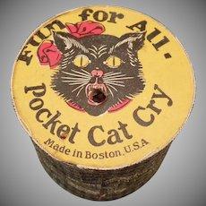 Vintage Gag Toy Noise Maker - Pocket Cat Cry Squeaker