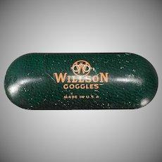 Vintage Willson Safety Goggle Eye Glasses Tin