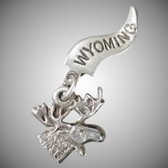 Vintage Sterling Silver Charm – Souvenir of Wyoming Moose Head