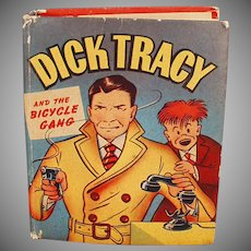 Vintage Better Little Book  No. 1424 Dick Tracy & the Bicycle Gang