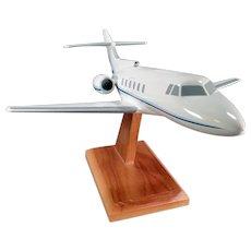 Vintage Executive Desk Airplane Model - Raytheon Hawker 700 Jet