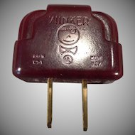 Vintage Winker Bakelite Plug Adapter – Light Blinker / Flasher