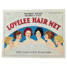 Vintage Lovelee Hair Net Package - Beautiful 1920's Hair Style Graphics