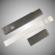 Vintage Slide Rule with Magnifing Bar - Hemmi Japan - Post #1447 with Case