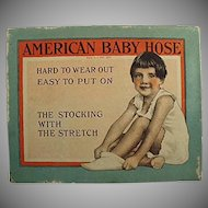 Vintage American Baby Hose Stockings Box