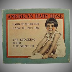 Vintage American Baby Hose Stockings Box