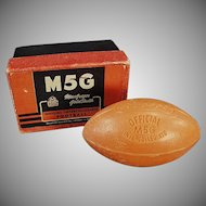 Vintage Figural Soap Bar - Intercollegiate Football with Original Box