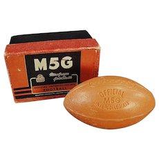 Vintage Figural Soap Bar - Intercollegiate Football with Original Box