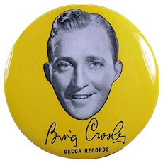 Vintage Cellluloid Record Duster - Decca Records Bing Crosby Advertising
