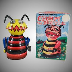 Vintage Marx Chompy the Beetle Tin Wind Up with Original Box - On Facebook