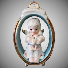 Vintage Porcelain Birthday Angel – Zodiac Gemini Twins