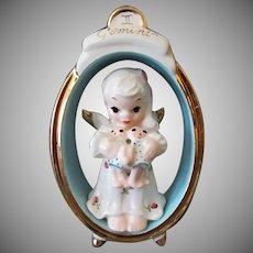 Vintage Porcelain Birthday Angel – Zodiac Gemini Twins