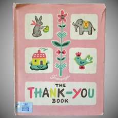 Child's Vintage Storybook – The Thank You Book – Francoise - 1947