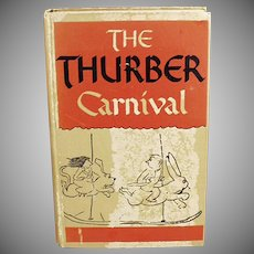 Vintage Book - 1945 Thurber Carnival - Hardbound Edition by James Thurber