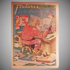 Vintage Portalnd Oregon Journal Newspaper - Christmas Edition 1937 with Santa Claus