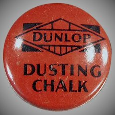 Vintage Dunlop Dusting Chalk Tin - Balloon Tire Repair