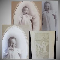 Vintage Baby Photographs in Boise Union Pacific Depot Folder Frames
