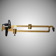 Vintage Kimball Bros. Brass Beam Scale – Big and Beautiful