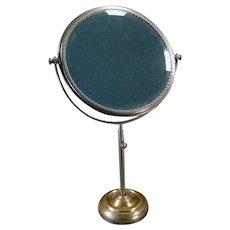 Vintage Shaving or Vanity Mirror – Beveled Mirror on Adjustable Swivel Stand