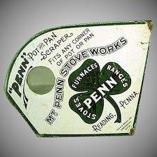 Vintage Metal Advertising Pot Scraper - Mt. Penn Stoves