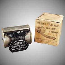 Vintage Razor Strop - Torrey's Pullman Retractable Strop with Original Box