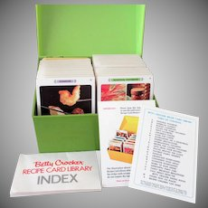 Vintage Cookbook in a Box – Betty Crocker Recipe Card Library – 1971 Complete