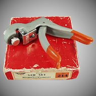 Vintage Millers Falls No. 214 Pistol Grip Saw Set with Original Box