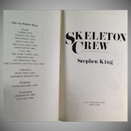 Vintage Stephen King Book - Skelton Crew - 1985 Hardbound Novel