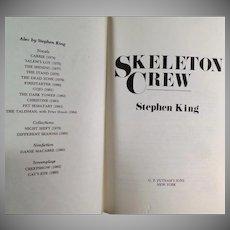 Vintage Stephen King Book - Skelton Crew - 1985 Hardbound Novel