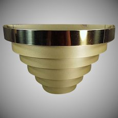 Vintage Wall Sconce - Tiered Banded Metal - Electric Light Fixture