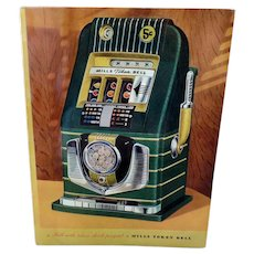Vintage Slot Machine Advertising Brochure - Mill's Bell-O-Matic Gambling Memorabilia