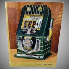 Vintage Slot Machine Advertising Brochure - Mill's Bell-O-Matic Gambling Memorabilia