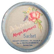 Vintage Debutante Magic Moment Sachet Box - 1950's Fuller Brush Co.