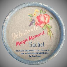 Vintage Debutante Magic Moment Sachet Box - 1950's Fuller Brush Co.