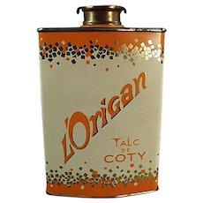 Vintage Talc Tin  - Coty Perfumed L'Origan