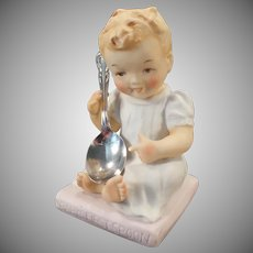 Vintage Baby's First Spoon Figure with Chalice/Harmony Spoon - 1950's
